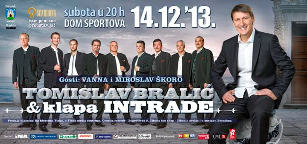 Gost iznenađenja na koncertu Tomislava Bralića & klape Intrade