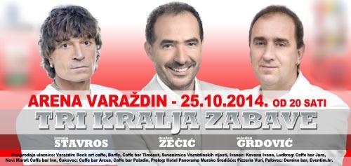 Tri kralja zabave stižu u Varaždin