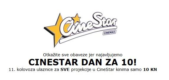 Cinestar dan za 10