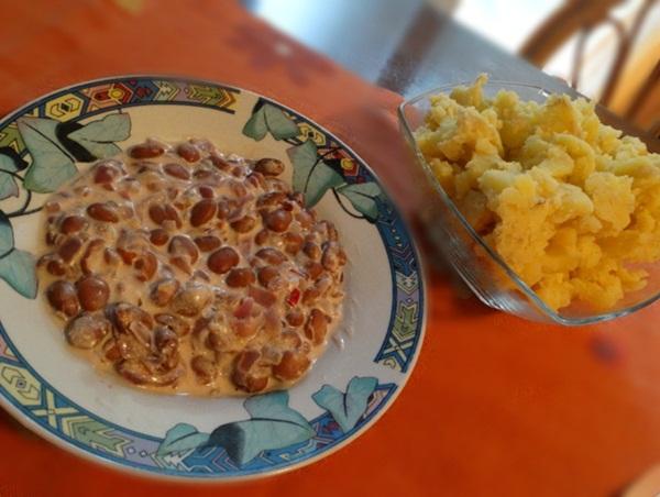 Restani krumpir i grah